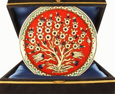 Turkish ceramic Tree Of Life Nicea Ceramic Plate by NiceaCeramics