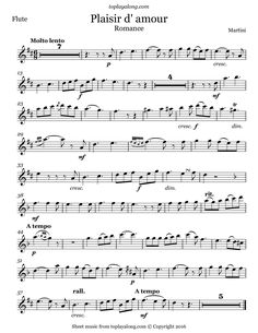 Free flute sheet music for Plaisir d'amour by Martini with backing tracks to play along. Free Flute Sheet Music, Saxophone Sheet Music, Sheet Music Book, Music Notes, My Music, Kalimba, Martini, Backing Tracks, Music Score