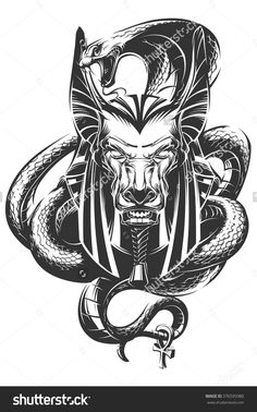 Find Anubis stock images in HD and millions of other royalty-free stock photos, illustrations and vectors in the Shutterstock collection. Thousands of new, high-quality pictures added every day. Gods Tattoo, Tattoo Femeninos, Tattoo Hals, Snake Tattoo, Kunst Tattoos, Body Art Tattoos, Sleeve Tattoos, Cool Tattoos, Anubis Tattoo