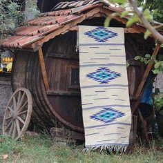 White bohemian rug, handwoven boho rug, boho rug, boho rug with tribal motifs, tribal rug, handwoven wool rug, kilim rug, home decor rug