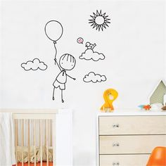 Rosenberry Rooms has everything imaginable for your child's room! Share the news and get $20 Off  your purchase! (*Minimum purchase required.) Up, Up Away Wall Decal #rosenberryrooms
