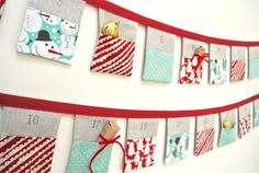 © Copyright Sew Sweet Violet   Ooooh Christmas is coming...how exciting! ..... This pretty and original bunting advent calendar will make your