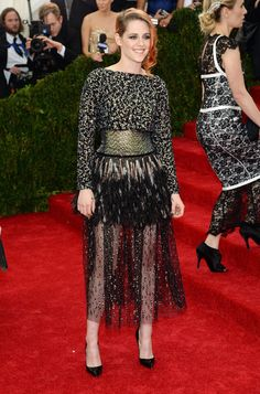 """Actress Kristen Stewart attends the """"Charles James: Beyond Fashion"""" Costume Institute Gala at the Metropolitan Museum of Art on May 5, 2014 ..."""