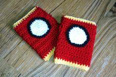 iron man fingerless gloves - free pattern