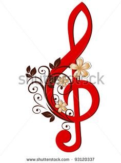 Treble clef with a flower pattern Royalty Free Vector Image Bff Tattoos, Music Tattoos, Rose Tattoos, Music Decor, Art Music, Free Vector Images, Vector Art, Harley Davidson Images, Music Symbols