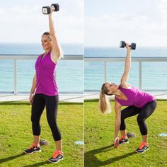Flat Abs Exercise: Windmill Squat Press - The Best Leg Exercises and Arm Exercises for Flat Abs - Shape Magazine