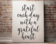 Start Each Day With A Grateful Heart by FullMoonPrints on Etsy