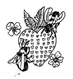 — More commissioned bees! Mini Tattoos, Small Tattoos, Cool Tattoos, Tatoos, Tattoo Sketches, Art Sketches, Kawaii Tattoo, Doodle Tattoo, Stick And Poke