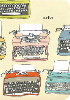 Julia Rothman Typewriter Eco-Journal. Everyone should write, even if it's tucked away in a personal journal.