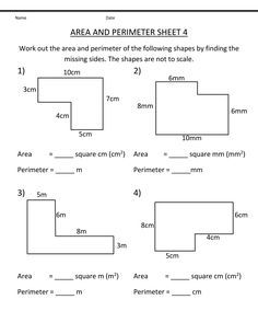 Printable Grade 4 Math Worksheets Perimeter Worksheets Area Worksheets Word Problem Worksheets