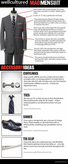 """An infographic on the """"Mad Men Suit."""""""