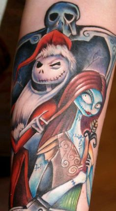 Jack and Sally The Nightmare Before Christmas Tattoo