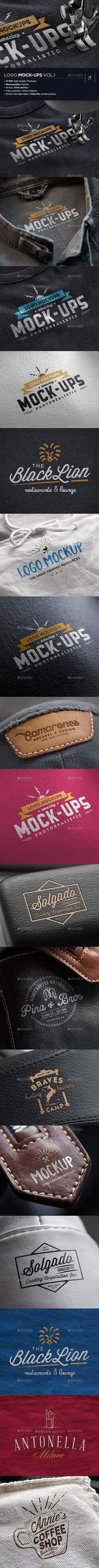#LogoMock-Ups / Vol.1 - Logo Product Mock-Ups.