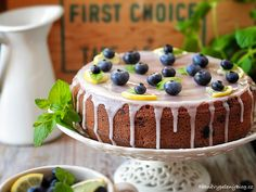 Bábovka s borůvkami Tiramisu, Blueberry, Cheesecake, Ethnic Recipes, Sweet, Cottage, Food, Fruit Cakes, Bundt Cakes
