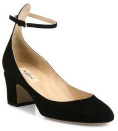 Shop Now - >  https://api.shopstyle.com/action/apiVisitRetailer?id=605183527&pid=uid6996-25233114-59 Valentino Tango Suede Ankle-Strap Pumps  ...