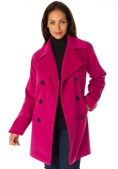 cd241742e2e Our classic plus size peacoat is the perfect top layer for modern polish  all winter long