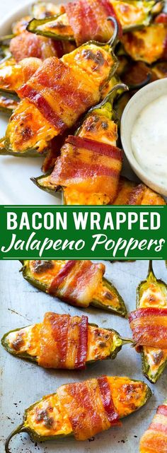 Bacon Wrapped Jalapeno Poppers Recipe | Baked Jalapeno Poppers | Bacon Appetizer