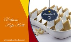 FREE HOME DELIVERY ALL INDIA Special offer for you Upto10% off Special Kaju Katli @ Fast shop now @ http://www.ratlamitadka.com/