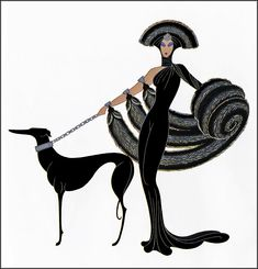 Erté, 'Symphony in Black' of At the Theatre series, Art Deco