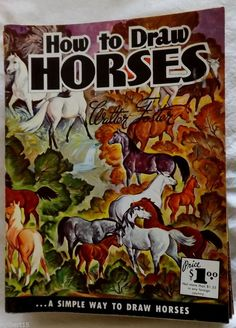 How to Draw Horses by Walter Foster #11 Artist Paperback Instruction Art