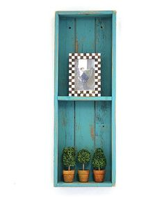 Love this Turquoise Wood Double Shadow Box on #zulily! #zulilyfinds
