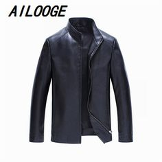 Mens Leather Jackets And Coats Overcoat Casual Mens Faux Leather Jacket Biker Style Men Leather Coat Clothing 2016 Autumn Winter