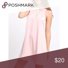 blush dress high-necked, loose blush dress Dresses Mini