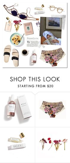 """""""Breakfast in Bed"""" by mjangirashvili ❤ liked on Polyvore featuring Herbivore, Jenna Leigh and Loeffler Randall"""