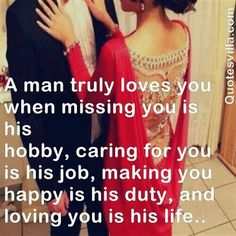 Love is making your lover your hubby