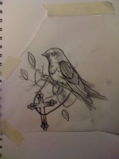 Bird Tattoo Sketch