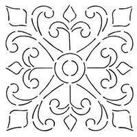 Fleur de Lis plate panel