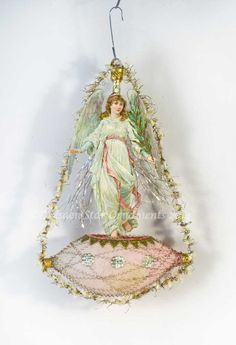 Reserved for Dennis – Christmas Angel on Antique Unsilvered Glass Boat Ornament Christmas In Paris, Old World Christmas, Pink Christmas, Christmas Angels, Christmas Things, Christmas Trees, Merry Christmas, Victorian Christmas Ornaments, Vintage Ornaments