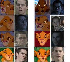 Stiles from Teen Wolf meet Simba from Lion King Dylan O'brien, Teen Wolf Dylan, Teen Wolf Stiles, Dylan Thomas, Stydia, Sterek, Teen Wolf Funny, Wolf Stuff, Le Roi Lion