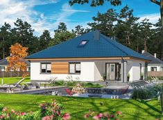 DOM.PL™ - Projekt domu ARP TRYTON 3 B CE - DOM AP2-28 - gotowy koszt budowy Home Fashion, House Plans, Cabin, Mansions, Architecture, House Styles, Outdoor Decor, Houses, Home Decor