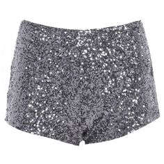 AX Paris Sequin Knicker Shorts ($40) ❤ liked on Polyvore