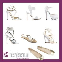 """Fashion Tip: Are white shoes a little tacky? White is a new trend coming through this Spring/Summer and it extends to shoes! So you don't look like you're stuck in the 80""""s, choose a strappy sandal and a sleek heel. To flatter this new look, choose a nude colour polish for your toes or go white instead.  PS: Don't forget the NEW Life-Styler website is now up! Check it out!   http://life-styler.com.au #womensshoes"""