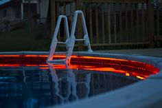 Swimming pool flexible led strips Spa Water, Swimming Pool Signs, Swimming Pools, Above Ground Pool Lights, Piscina Diy, Cheap Pool, Waterproof Led Lights, Above Ground Pool Landscaping, Stock Tank Pool