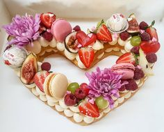 Biscuit Cake, I'm Happy, Heart Shapes, My Heart, Panna Cotta, Biscuits, Valentines Day, Ethnic Recipes, Check