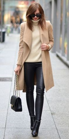 Beige and camel every day business casual #styleinspiration #thewantedlist