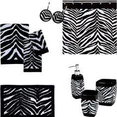 Zebra Bathroom Bundle with Optional Accessories