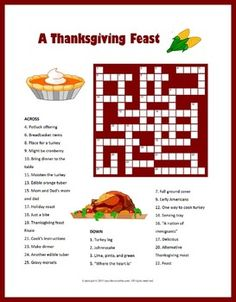 Thanksgiving Puzzles for Kids Bundle: includes printable mazes, cryptograms, word search, crosswords, and more.