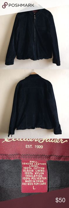 Eddie Bauer men's washable Suede coat Eddie Bauer men's washable Suede coat 100% leather  This coat coat it's in mint condition. No scratch's in the Suede. One of my favorite finds.  Size: Large Eddie Bauer Jackets & Coats Bomber & Varsity