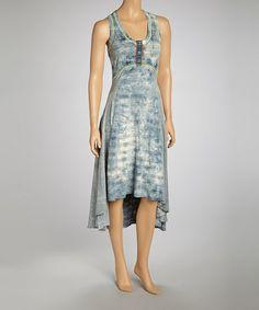 Another great find on #zulily! Spruce Tie-Dye Stripe Maxi Dress by Scrapbook Originals #zulilyfinds