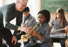 """Science has shown that when children learn to play music, their brains begin to hear and process sounds that they couldn't otherwise hear. This helps them develop """"neurophysiological distinction"""" between certain sounds that can aid in literacy, which can translate into improved academic results for kids."""