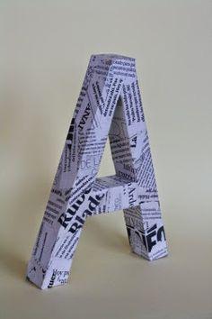 Cómo hacer unas letras decorativas con cartón