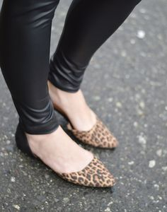 The most PERFECT pointy leopard flats. Love love love! (Christian Siriano for Payless) #sp