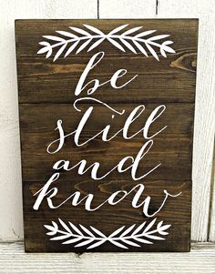 Be Still and Know Hand Painted Sign by Pretty Painted Signs on Handmade at Amazon