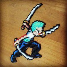 Roronoa Zoro One Piece hama perler beads by Cris