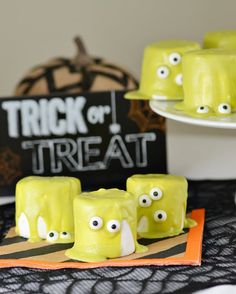No need to turn on the oven for this Halloween Monster Marshmallow recipe.