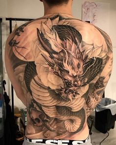 Dragon back piece in-progress by (@danny_chronicink) done at Chronic Ink Tattoo - Toronto, Canada